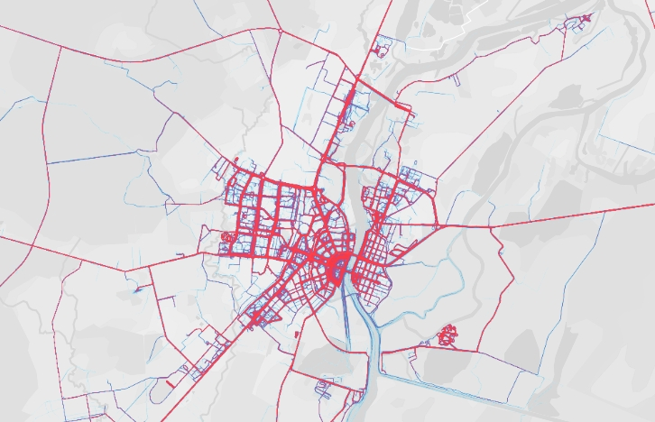 Великий Новгород нанесли на карту с помощью пота спортсменов