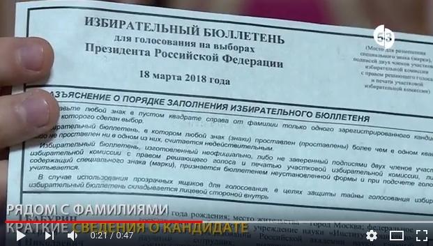 Бюллетень для голосования на выборах президента РФ имеет несколько степеней защиты