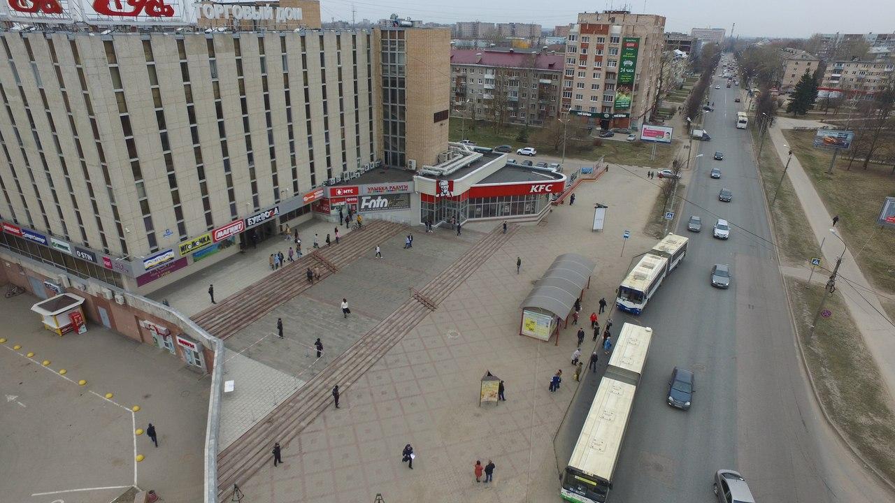 На учебный пожар в новгородской «Руси» можно взглянуть сверху