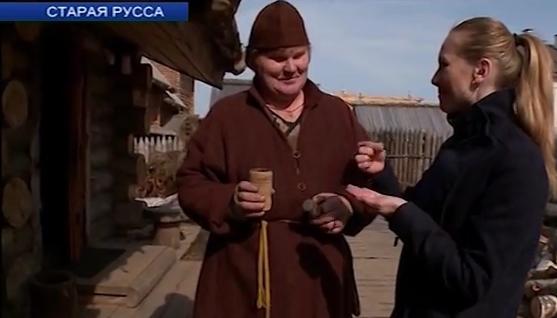 В Старой Руссе приготовили четверговую соль по средневековой технологии