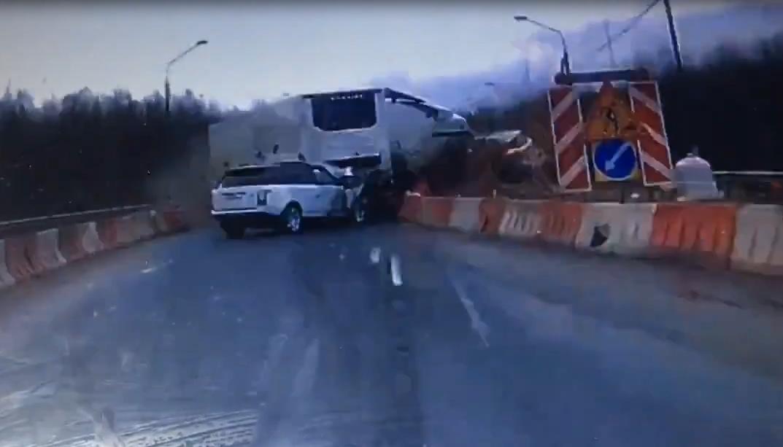 На видео попал момент смертельного столкновения в Трегубово