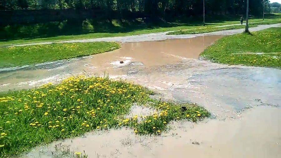 Русло реки Гзень начало заполняться водой