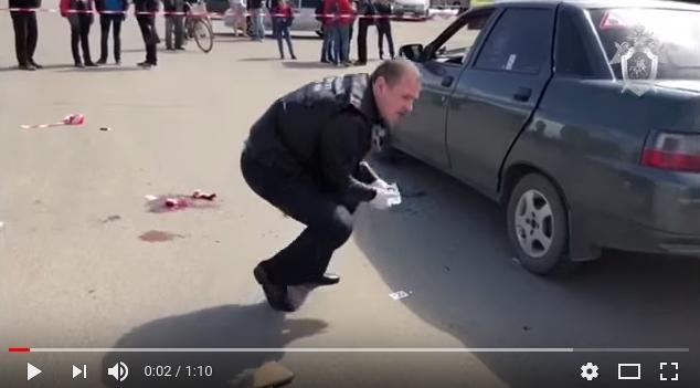 Появилось видео с места стрельбы в Пролетарии