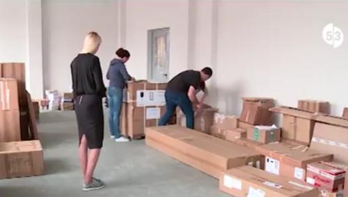 В новой новгородской школе на улице Белорусской появляется современное оборудование