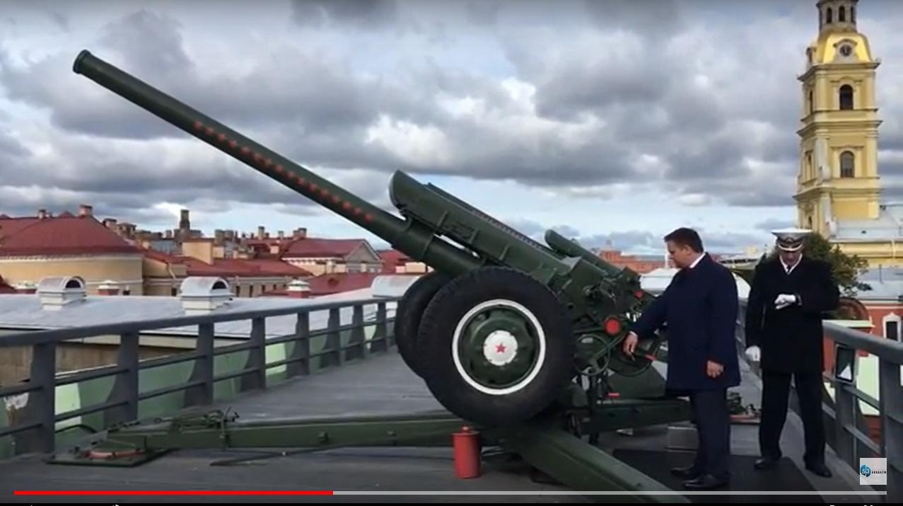 Видео: Андрей Никитин дал старт Дням Новгородской области в Санкт-Петербурге выстрелом из пушки