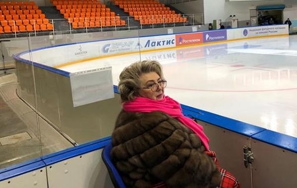 Татьяна Тарасова пожелала всем удачи на Кубке России в Великом Новгороде