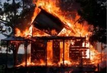 Баня сгорела в Парфинском районе