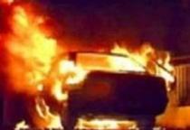 В Парфино горел автомобиль