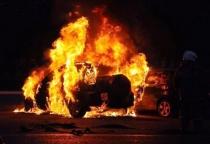 В Пестовском районе сгорел автомобиль