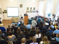 Новгородские студенты спрашивали Сергея Митина о выборах, экономике, трудоустройстве