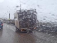 На Колмовском мосту фургон потерял колесо
