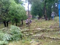 В Мареве идут восстановительные работы после ураганного ветра