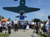 В Волгоградской области установили копию самолета Алексея Маресьева