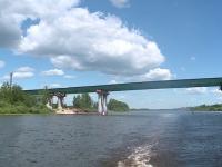 Автодорога М-11 пересекла Волхов мостом