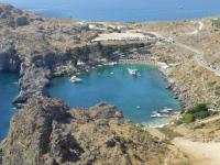 Остров Родос в море лета