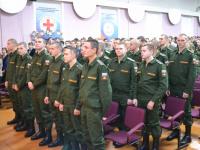 Новгородских призывников проводили в армию