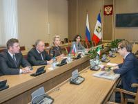Сергей Митин встретился с генконсулом Италии в Санкт-Петербурге Леонардо Бенчини