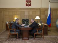 Сергей Митин и Александр Ткачев обсудили рыбохозяйственную мелиорацию Ильменя
