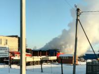 В Великом Новгороде горел цех ООО «Каши»