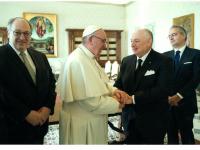 Вячеслав Кантор встретился с папой римским Франциском