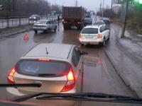Движение по Колмовскому мосту затруднено из-за аварий