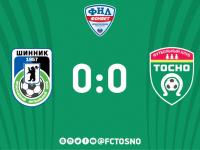 ФК «Тосно» сыграл вничью с «Шинником»