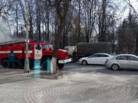 В центре Великого Новгорода загорелся автобус №20. Видео