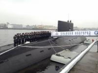 Великий Новгород посетил экипаж одноимённой подводной лодки