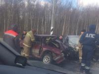 Два человека погибли в лобовом столкновении автомобилей в Шимском районе