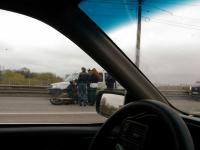 На Колмовском мосту не справился с управлением 19-летний мотоциклист