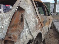 Сгоревшую машину Андрея Ларченко нашли велосипедисты