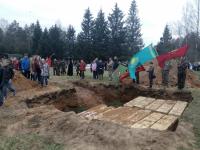 В Парфинском районе захоронили 485 красноармейцев