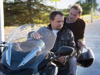 Андрей Никитин прокатил Сергея Брилева на мотоцикле