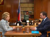 Андрей Никитин встретился с председателем Совета Федерации Валентиной Матвиенко