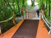 Фотофакт: на горочку Варлаама Хутынского ведет новая лестница