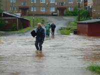 В Любытине целый микрорайон затопила стихия