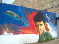 В Великом Новгороде появилось граффити на тему Великой Отечественной Войны
