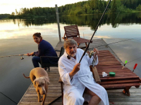 Фото: Александр Ширвиндт в 83-й День рождения ловит рыбу на Валдае