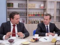 Дмитрий Медведев и Андрей Никитин обсудили проблемы качества муниципального управления и трудоустройства молодежи