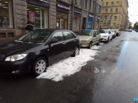 Фотофакт: 22 июля в Санкт-Петербурге выпал град и появились сугробы