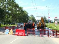 Фотофакт: улица Щусева в Великом Новгороде уходит под землю