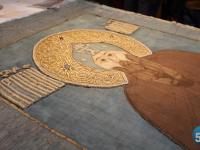 Новгородские реставраторы восстанавливают надгробный покров преподобного Варлаама Хутынского – дар царя Фёдора Иоанновича