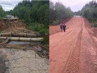 В Новгородской области восстановили дорогу в поселок, где 2 000 жителей были отрезаны от остального мира