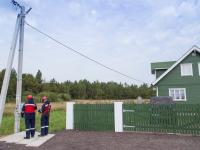 Глава компании «Россети» Олег Бударгин  и Андрей Никитин поздравили новгородскую семью со знаковым для региона событием