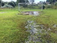 Из-за неудовлетворительного состояния поля отменен матч чемпионата Новгородской области по футболу