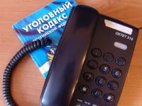 Новгородцу дали год колонии за телефонный звонок