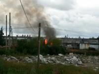 Пламя уничтожило котельную в Панковке