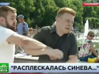 В день ВДВ журналист в прямом эфире получил удар кулаком в лицо