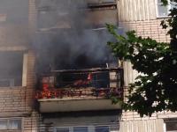 В Великом Новгороде ликвидируют пожар в доме на Державина