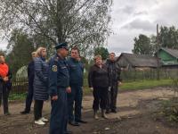 Андрей Никитин в Поддорье проконтролировал восстановление села после урагана